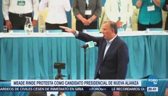 Meade rinde protesta como candidato a la presidencia del PRI