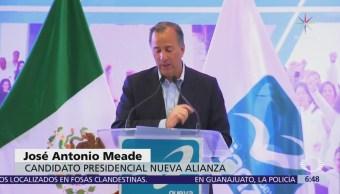 Meade rinde protesta como candidato presidencial de Nueva Alianza