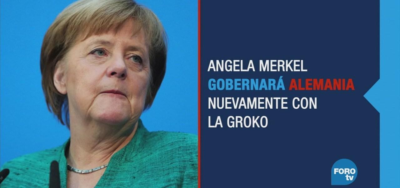 Merkel debilitada logra acuerdo para integrar gobierno