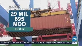 México Capta 29,695 Mdd Inversión Extranjera Durante 2017 Economía
