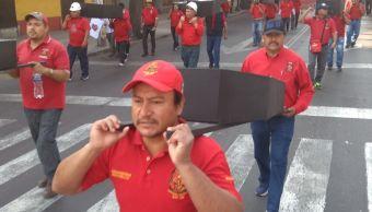 Mineros marchan en calles de la CDMX