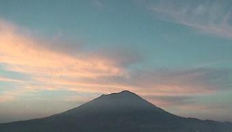 Monitoreo del volcán Popocatépetl del 20 de febrero