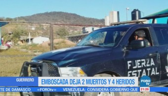 Mueren 2 personas en una emboscada en Atlixtac, Guerrero