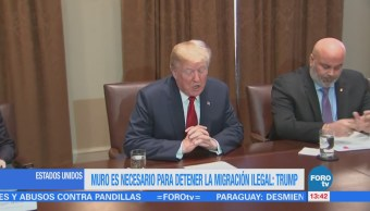 Muro Necesario Frenar Migración Ilegal Trump