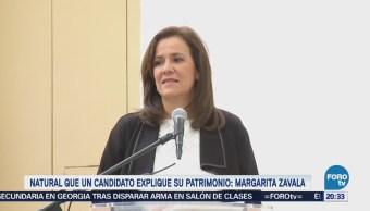Natural que un candidato explique su patrimonio: Margarita Zavala