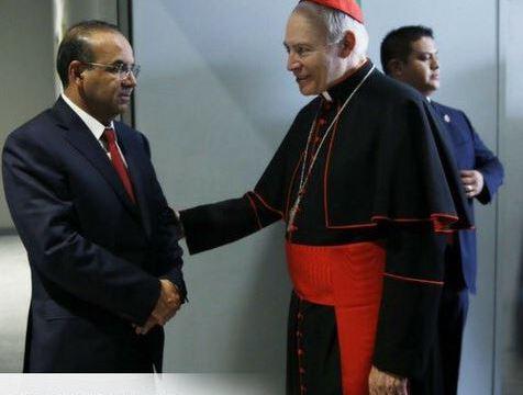 Navarrete Prida felicita a Carlos Aguiar Retes como nuevo arzobispo