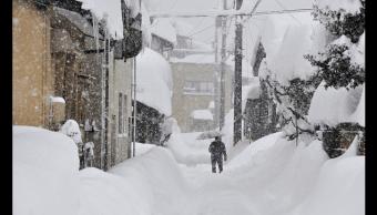 Nevadas en Fukui, Japón. (Getty Images)