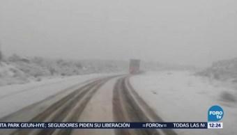 Nieva por segunda ocasión en La Rumorosa