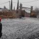 Reportan caída de nieve en zona montañosa de La Rumorosa, Baja California