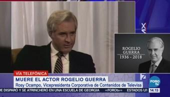 Rogelio Guerra estará presente en todas nuestras pantallas: Rosy Ocampo