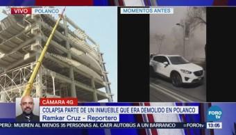 Servicios de emergencia atienden derrumbe en inmueble de Ejército Nacional, CDMX