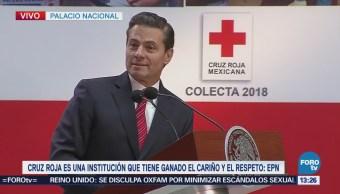 Peña Nieto Encabeza Inicio Colecta Nacional Cruz Roja Mexicana