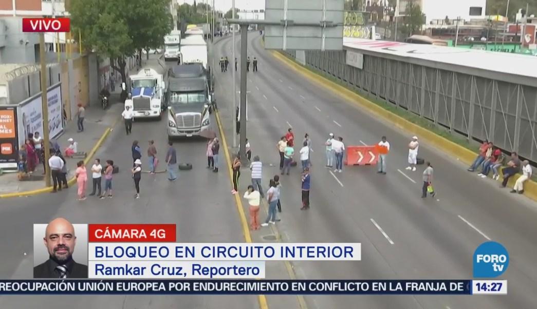 Vecinos bloquean Circuito Interior