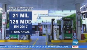 Aumenta Gasto Importación Gasolina Diésel Banxico