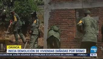 Oaxaca a una semana del sismo de Febrero de 2018