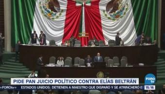 PAN pide juicio político contra Elías Beltrán