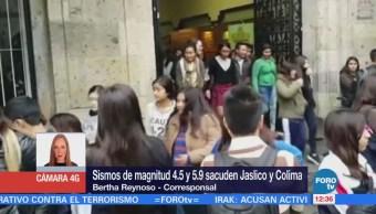 Reportan Saldo Blanco Sismos Jalisco Colima