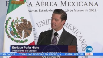 Peña Nieto reconoce a Fuerzas Armadas