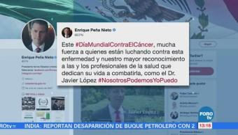 Peña Nieto reconoce a las personas que luchan contra el cáncer