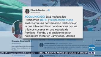Peña Nieto Donald Trump Hablan Teléfono