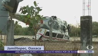 Peritos de Fuerza Aérea analizan sitio del accidente aéreo en Oaxaca