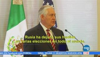 Poner Atención Rusia Aconseja Tillerson México