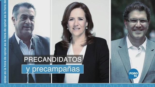 Precampañas de los precandidatos de las tres diferentes coaliciones a la presidencia