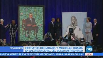 Presentan el retrato oficial del expresidente Barack Obama