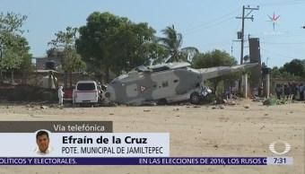 Presidente municipal de Jamiltepec habla en Despierta del accidente de helicóptero