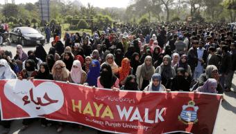 Protestas en Pakistán contra el día de San Valentín