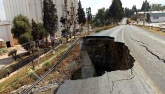 Se desgaja en Puebla puente en la carretera San Martín Texmelucan-Tlaxcala