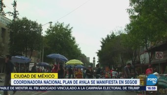 Cierran Circulación Bucareli Marcha Coordinadora Nacional Plan De Ayala
