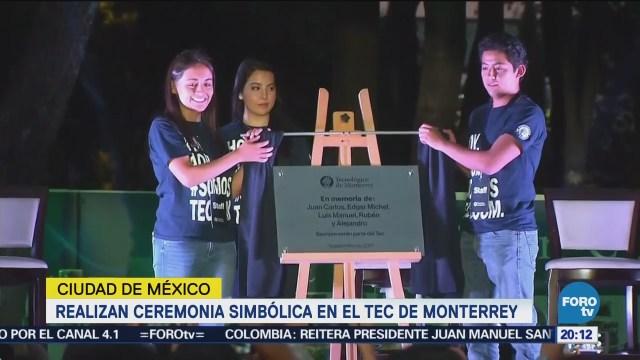 Realizan ceremonia simbólica en el Tec de Monterrey CDMX