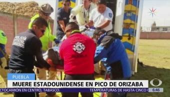 Recuperan cuerpo de estadounidense que sufrió caída en el Pico de Orizaba