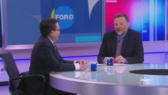 Leo Zuckermann junto con Ildefonso Guajardo, secretario de Economía, analizan el estado en que se encuentran las renegociaciones del TLCAN