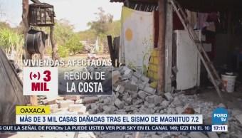 Reportan Más 3 Mil Viviendas Dañadas Tras Sismo Oaxaca