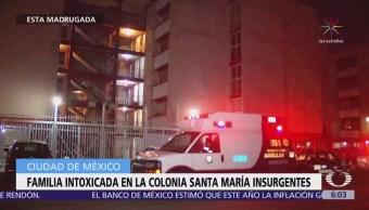 Rescatan a familia intoxicada en la colonia Santa María Insurgentes