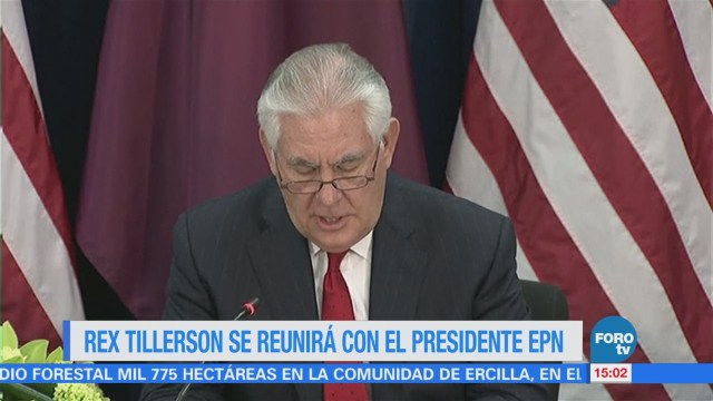 Rex Tillerson se reunirá con EPN