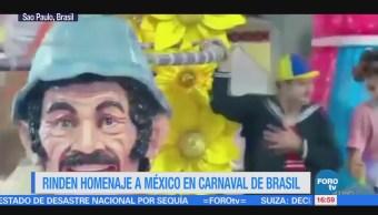Rinden Homenaje México Carnaval Brasil