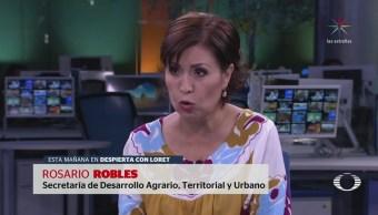 Rosario Robles rechaza imputaciones por desvío de recursos