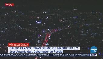 Saldo blanco y sin novedad, tras sismo en Puebla: Antonio Gali
