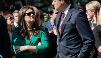 """Trump desea """"lo mejor"""" a su exsecretario Rob Porter, acusado de maltrato"""