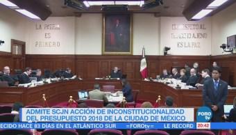 SCJN admite acción de inconstitucionalidad del presupuesto de la CDMX
