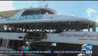 SCT ordena a Barcos Caribe suspender actividades en Quintana Roo