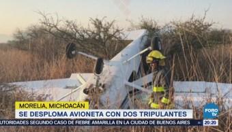 Se desploma avioneta en Michoacán