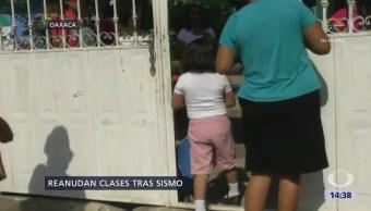 Reanudan Clases Oaxaca Sismo