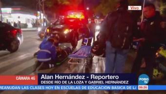 Se registra accidente en Río de la Loza, CDMX