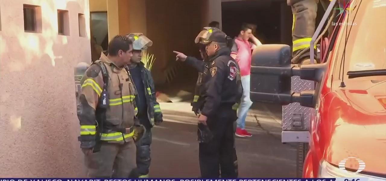 Se registra incendio en un hotel de Santa Fe