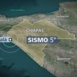 Se registra sismo de 5 grados en Chiapas