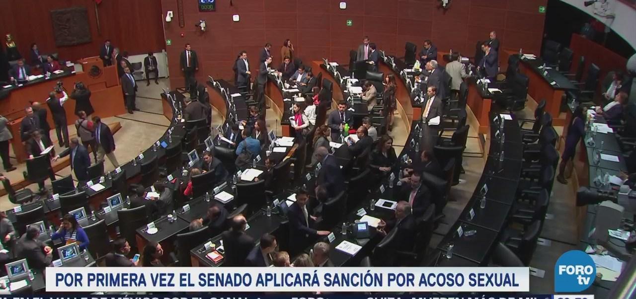 Senado aplicará sanción por acoso sexual